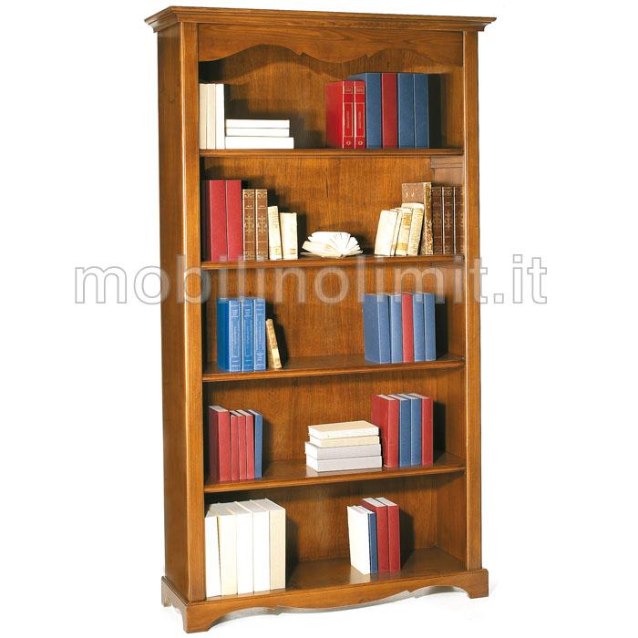 Libreria a giorno 4 ripiani grezzo for Mobile libreria legno