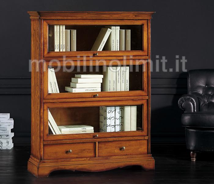 Libreria con cassetti e ante in Vetro (grezza)