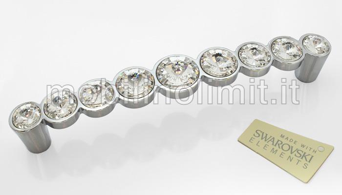 Maniglia cromo lucido con 9 swarovski linea luxury 633 - Cucina con swarovski ...
