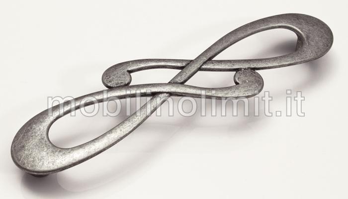 Maniglia decor 128 argento graffiato vendita on line for Mobili di design on line