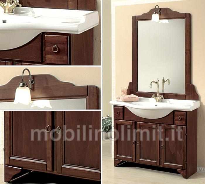 Mobile bagno con zoccolo arte povera 105 cm - Mobili bagno arte povera ...