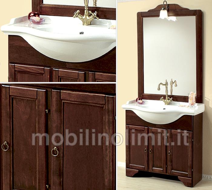 Mobile bagno con zoccolo arte povera 85 cm - Mobili bagno arte povera ...
