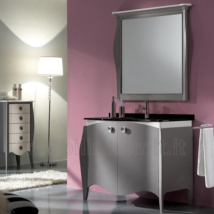Mobile bagno 2 ante bicolore style 2 for Costo mobile bagno
