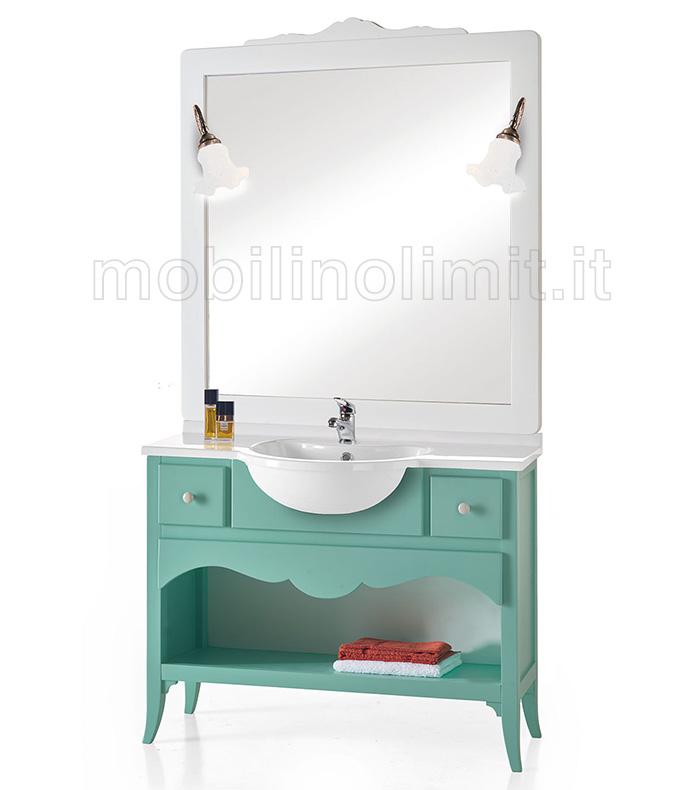 Mobile bagno 2 cassetti e un vano - Verde Acqua