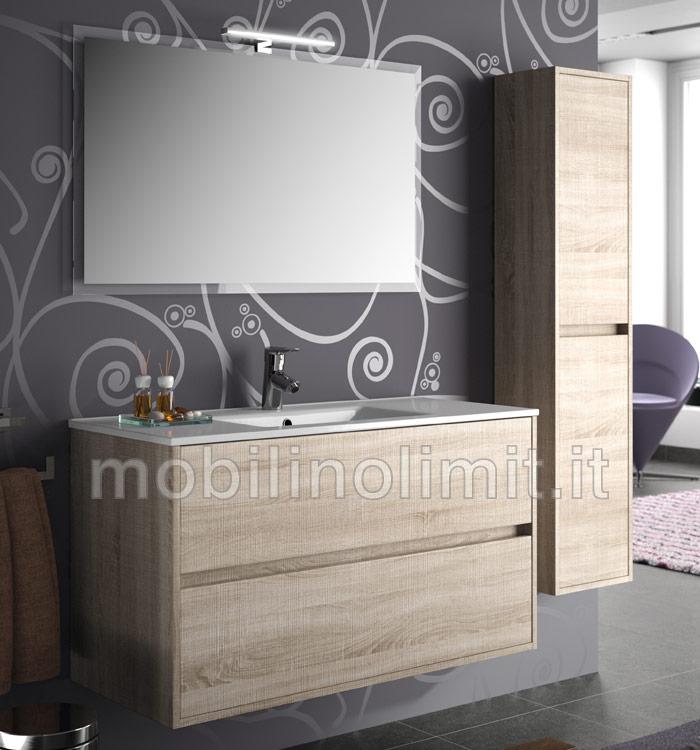 Mobile bagno moderno con lavabo caledonia for Costo mobile bagno
