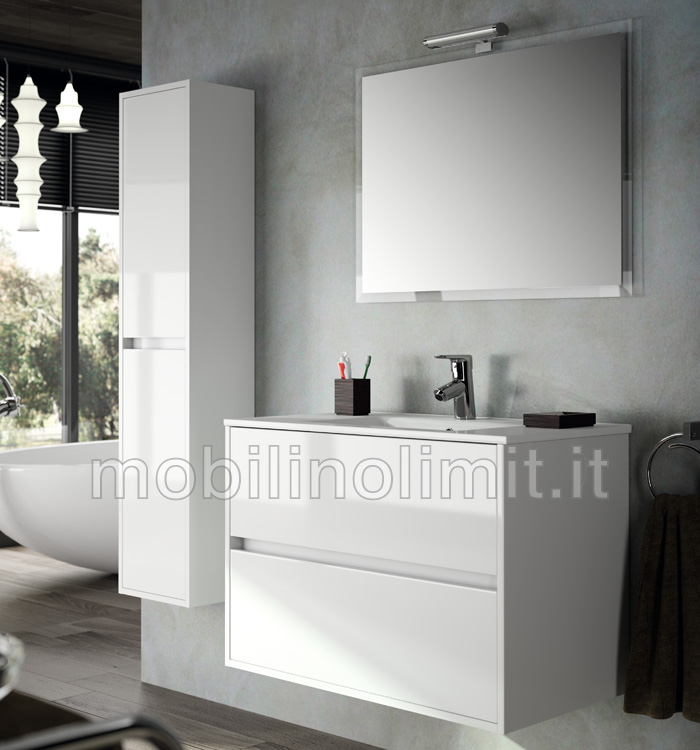 Mobile bagno bianco lucido 73 images mobile bagno curva bianco lucido 90 cm mobile bagno - Mobile bianco bagno ...