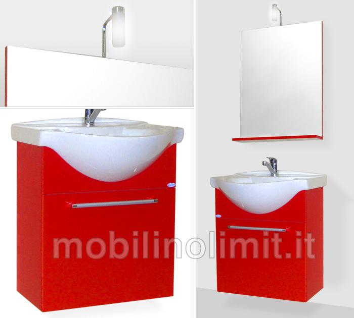 Mobile bagno sospeso rosso carminio - Mobile bagno rosso ikea ...
