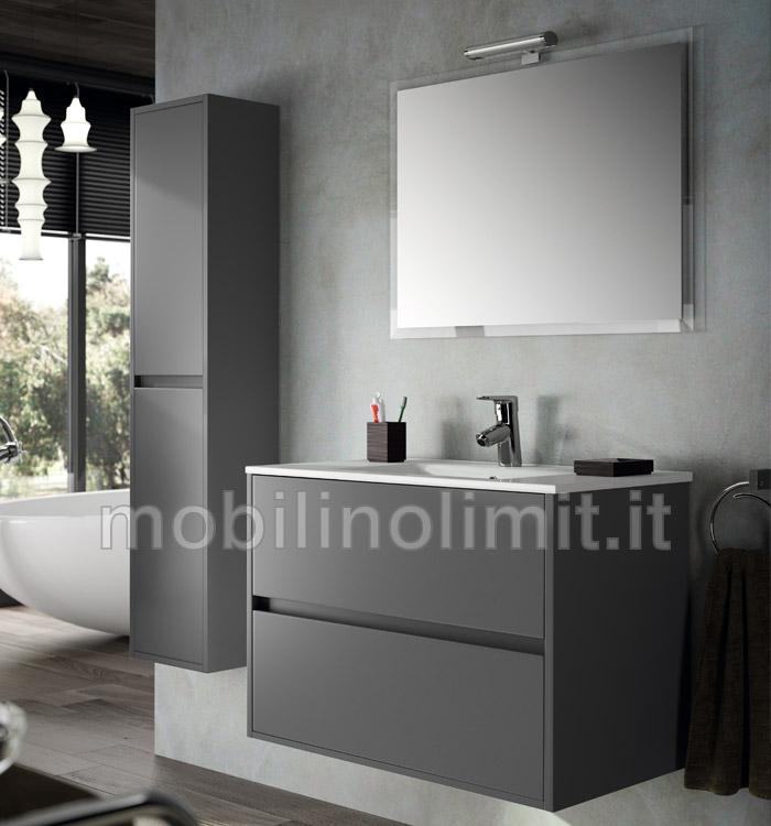 Mobile bagno moderno con lavabo grigio opaco - Bagno moderno grigio ...