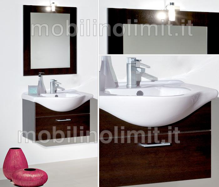Mobile bagno sospeso weng 55 cm for Mobile bagno wenge offerte
