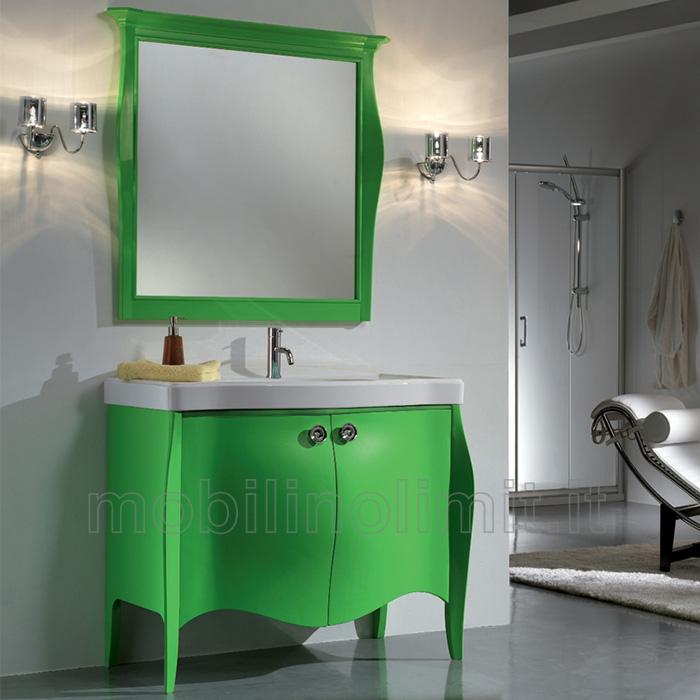 Mobile bagno verde acqua jy07 pineglen - Tappeti moderni verde acido ...