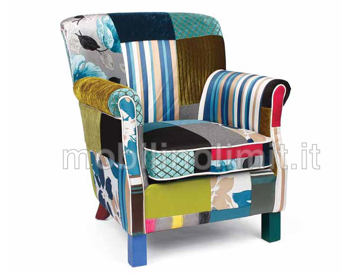 Poltrona berg re isotta patchwork for Poltrona bergere