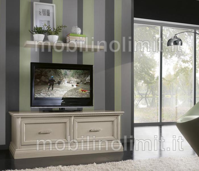 Porta tv 2 cassettoni grezzo for Costo del soffitto a cassettoni