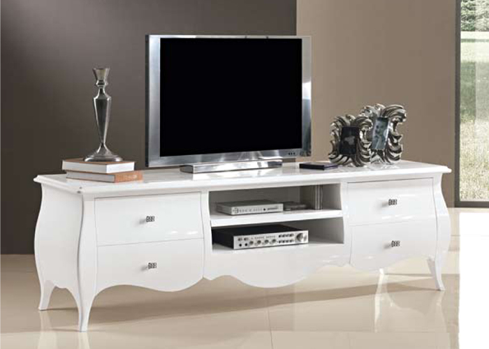 Porta tv bianco lucido - Mobili urban chic ...