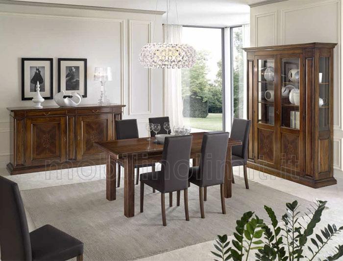 Sala da pranzo noce bassano for Mobili sala da pranzo moderni