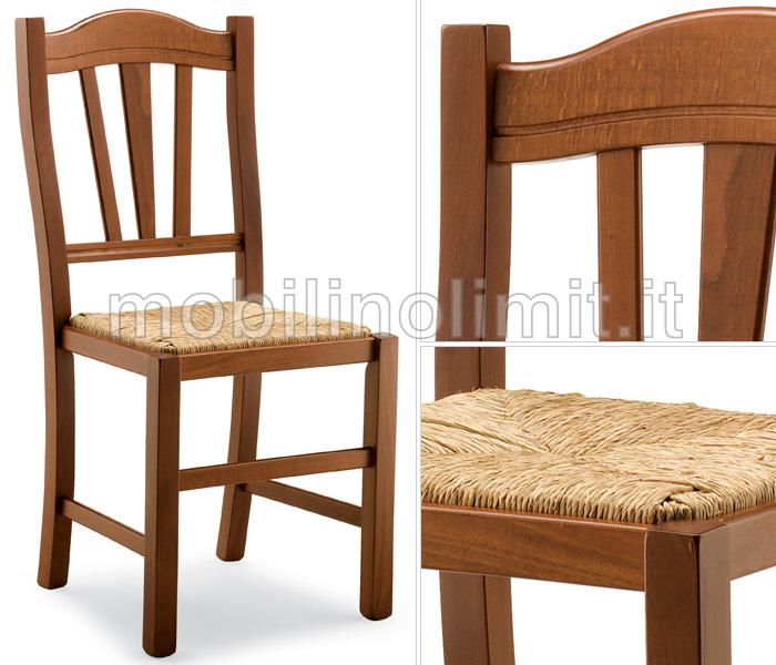 sedia classica con seduta in paglia