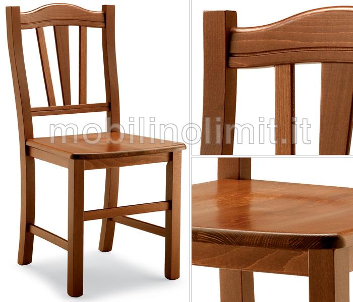 Sedie In Legno Arte Povera.Sedia Classica Con Seduta In Legno