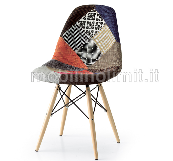 Sedia dsw eames patchwork for Replica mobili design