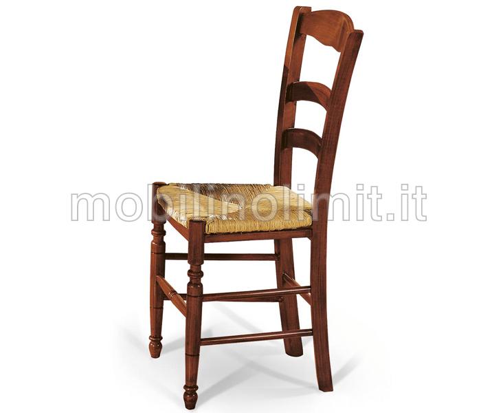 Sedia tornita con seduta in paglia for Sedie costo
