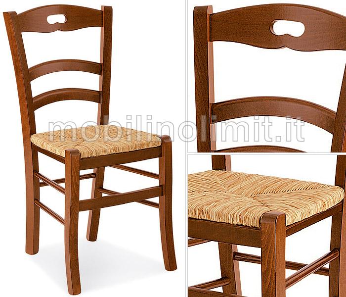 Sedia In Faggio con Seduta in Paglia