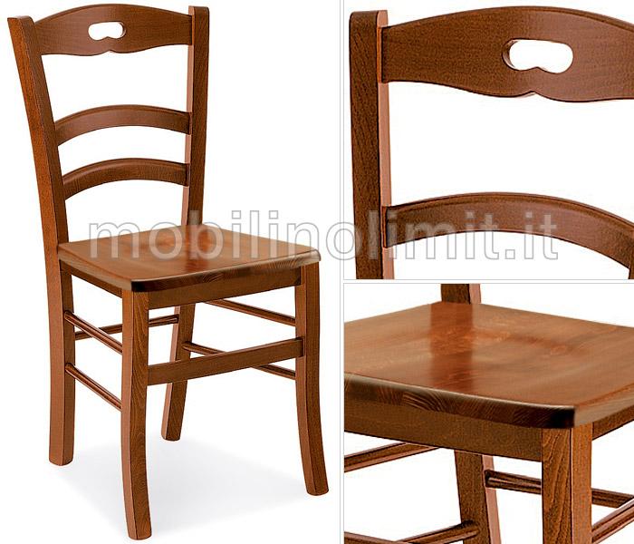 Sedute Per Sedie Di Legno.Sedia In Faggio Con Seduta In Legno