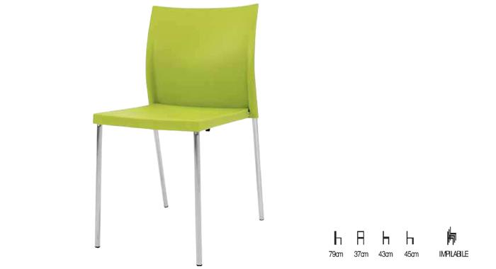 Sedia in polipropilene verde for Sedia a dondolo verde