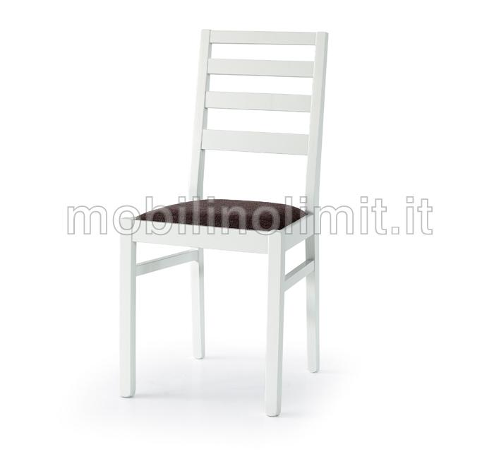 Sedia moderna in faggio finitura bianca for Sedia bianca moderna