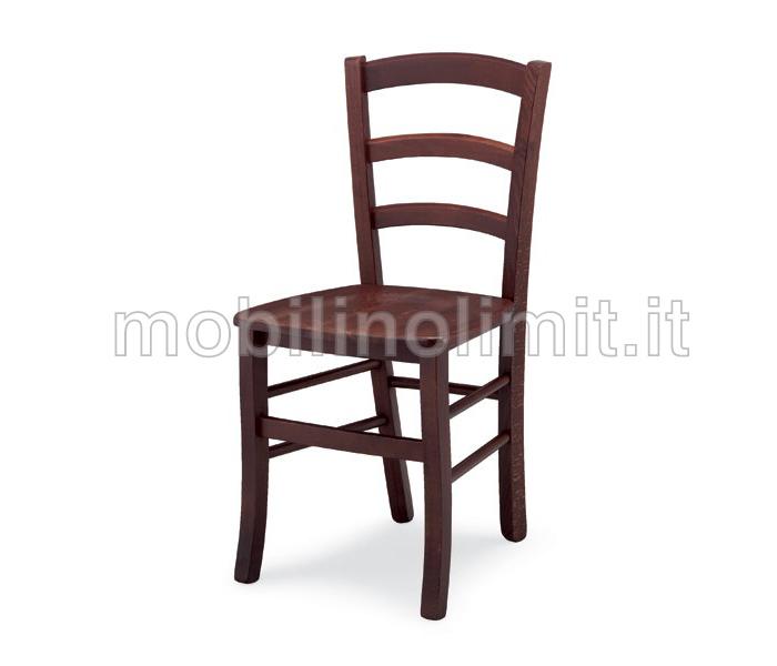 Sedia venezia con seduta in legno for Sedie costo