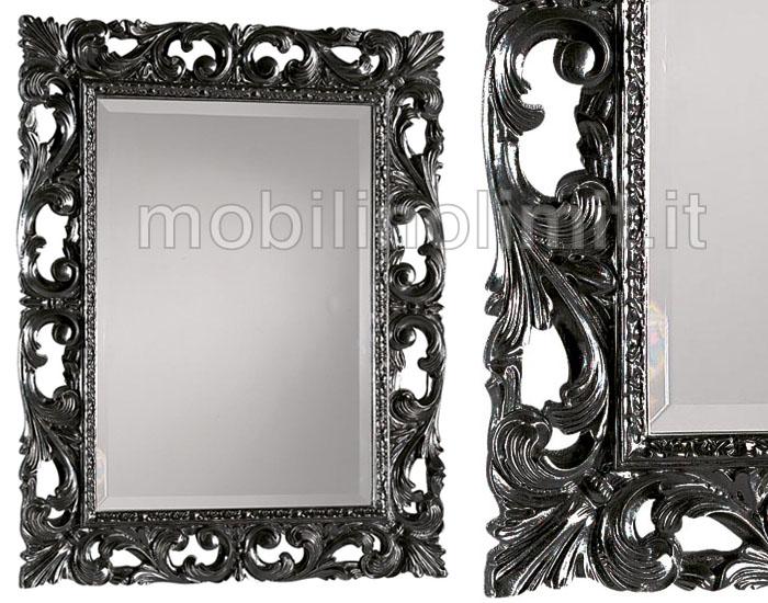 Specchiera nera lucida - Specchio cornice nera barocca ...