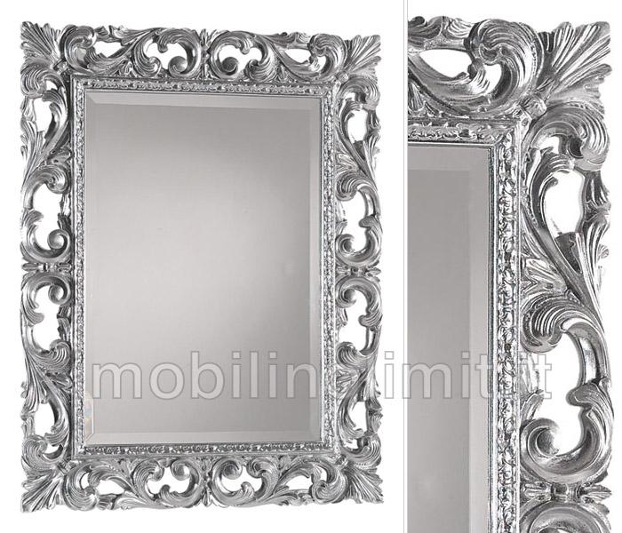 Specchiera foglia argento - Specchiere on line ...