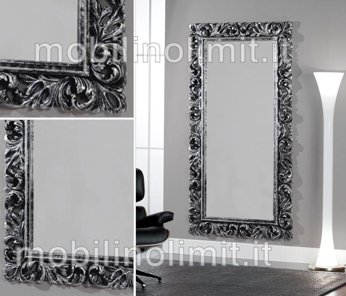 Specchiera argento e nero invecchiato - Costo bagno nuovo ...