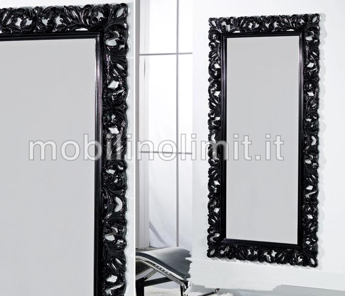 Specchiera nera lucida for Consolle nera laccata