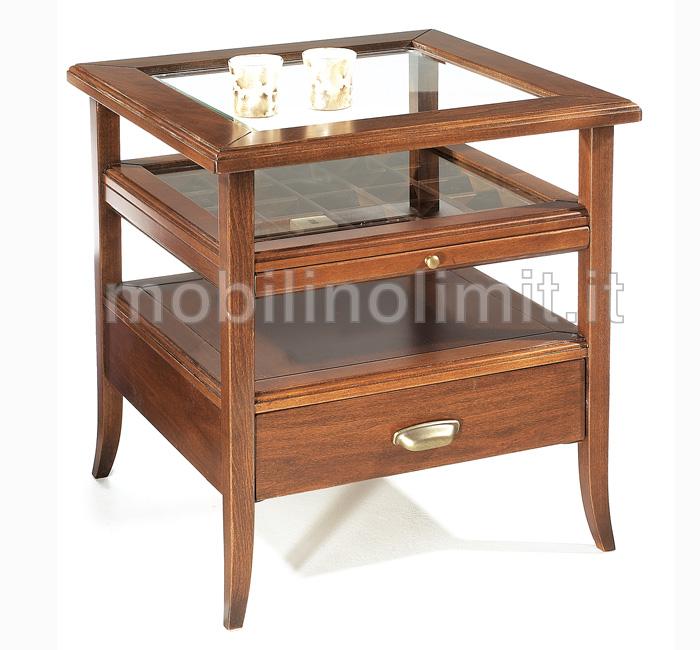 Tavolino Bacheca Arte Povera.Tavolino Bacheca Con Piano In Vetro