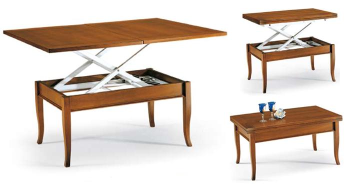 Tavolino trasformabile salvaspazio for Tavolo salvaspazio