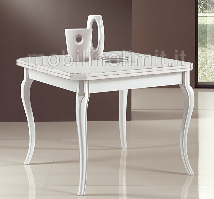 Tavolo quadrato bianco allungabile | Maratonadiverona