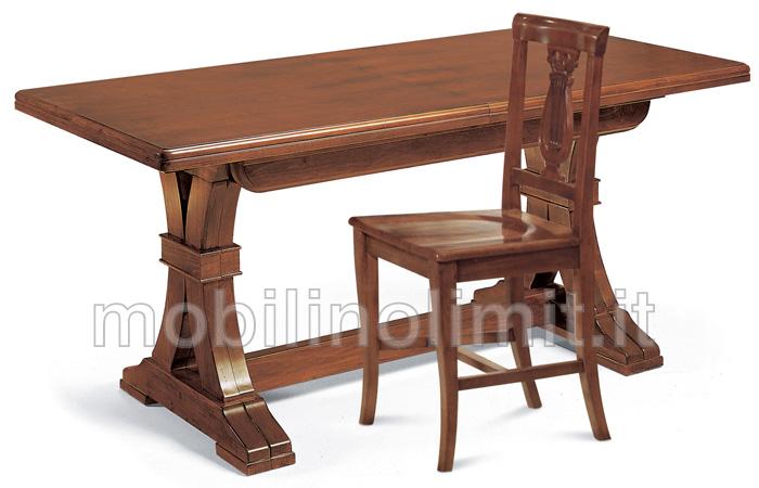 tavolo allungabile 180x85 noce bassano
