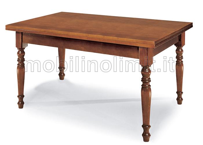 Gambe Di Legno Tornite Per Tavoli.Tavolo Con Gambe Tornite 140
