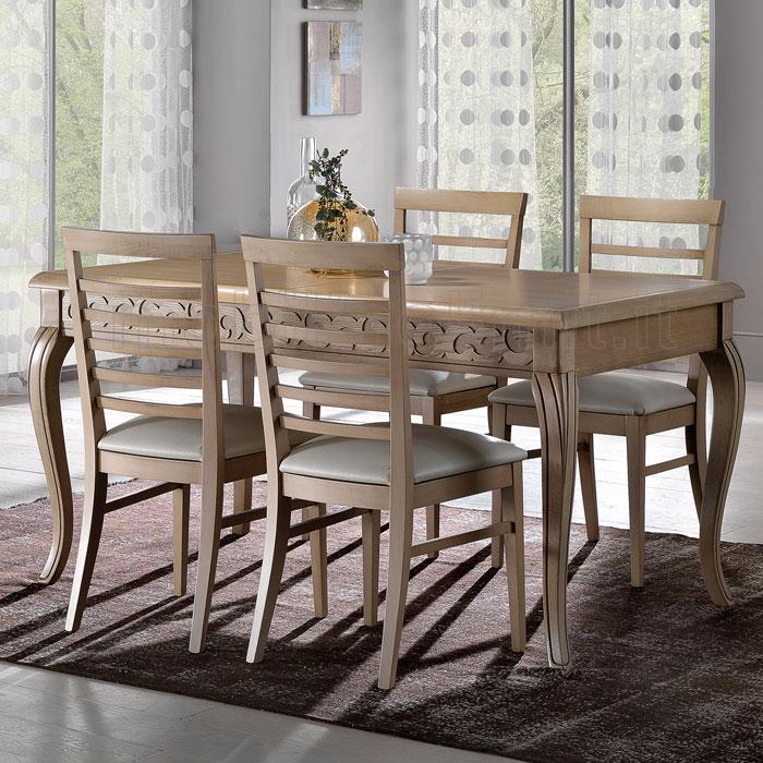 Tavolo allungabile con decorazioni eva linea 700 for Decorazioni da tavolo