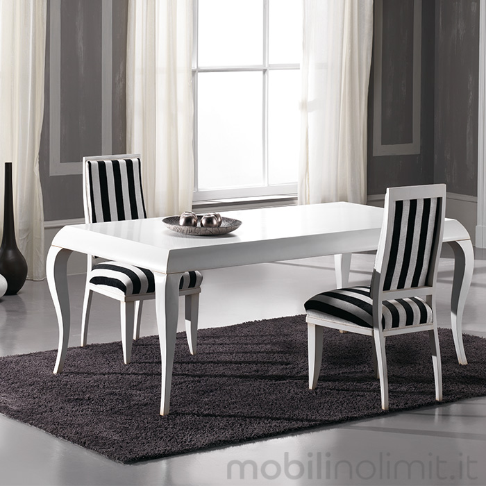 Tavolo contemporaneo con profilo alto bianco for Tavole da pranzo