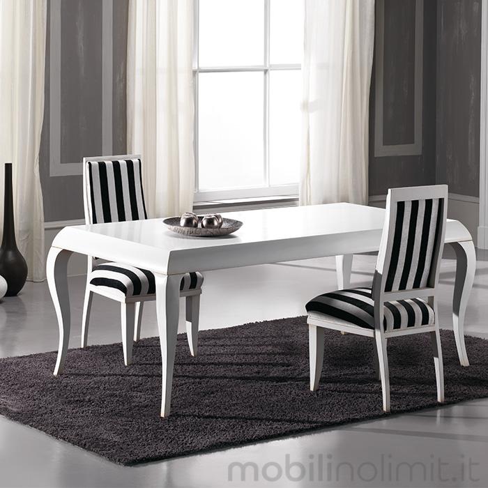 Tavolo contemporaneo con profilo alto bianco for Mobile tavolo