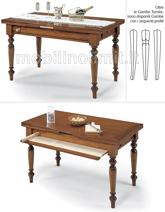 Tavolo da cucina allungabile attrezzato 120 cm for Cerco tavolo da cucina allungabile