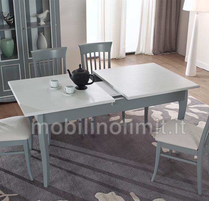 Tavolo da Pranzo Allungabile (160x90) - Bicolore