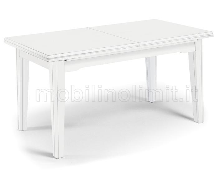 Tavolo Con Allunghe (180x100) - Bianco Opaco