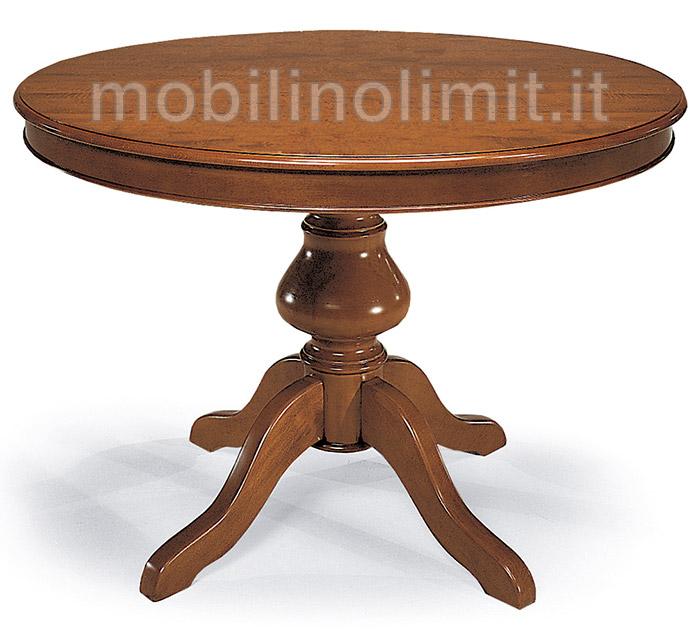 Tavolo Rotondo Allungabile Con Gambo Liscio 100 Grezzo