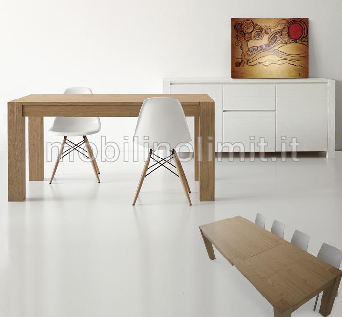 Tavolo moderno allungabile in Rovere Naturale Spazzolato (180x90)