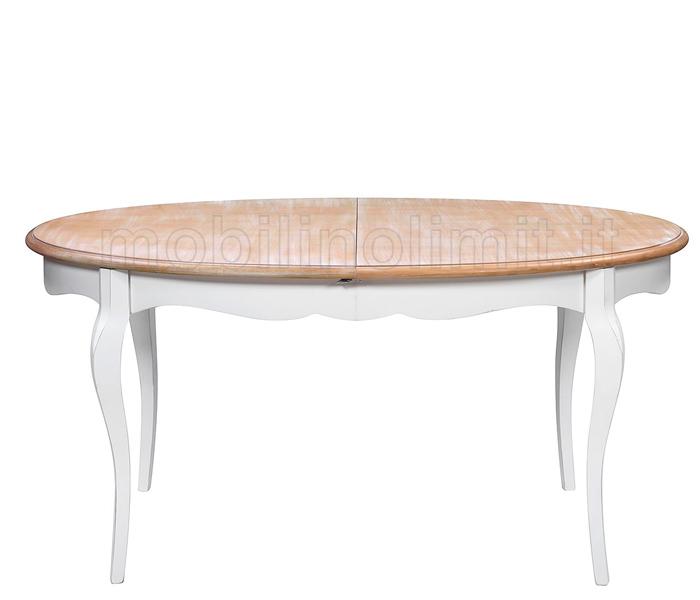 Tavolo allungabile ovale decapato shabby - Tavolo decapato ...