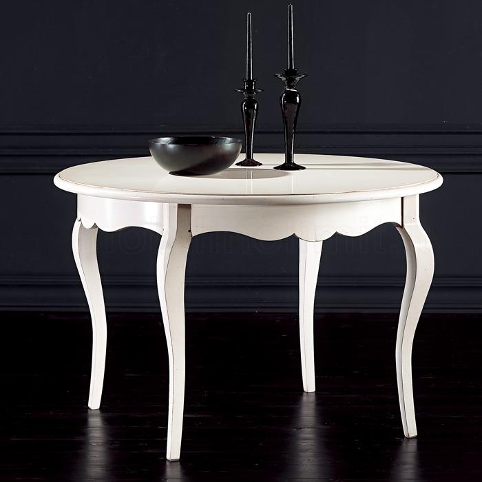 Tavolo rotondo allungabile 100 bianco anticato - Tavolo rotondo bianco allungabile ...