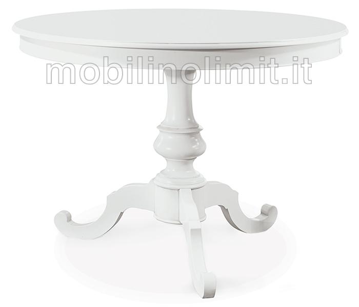 Tavolo rotondo bianco opaco 100 for Tavolo bianco rotondo allungabile