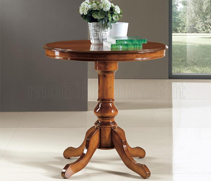 tavolo rotondo fisso diametro 80 noce medio