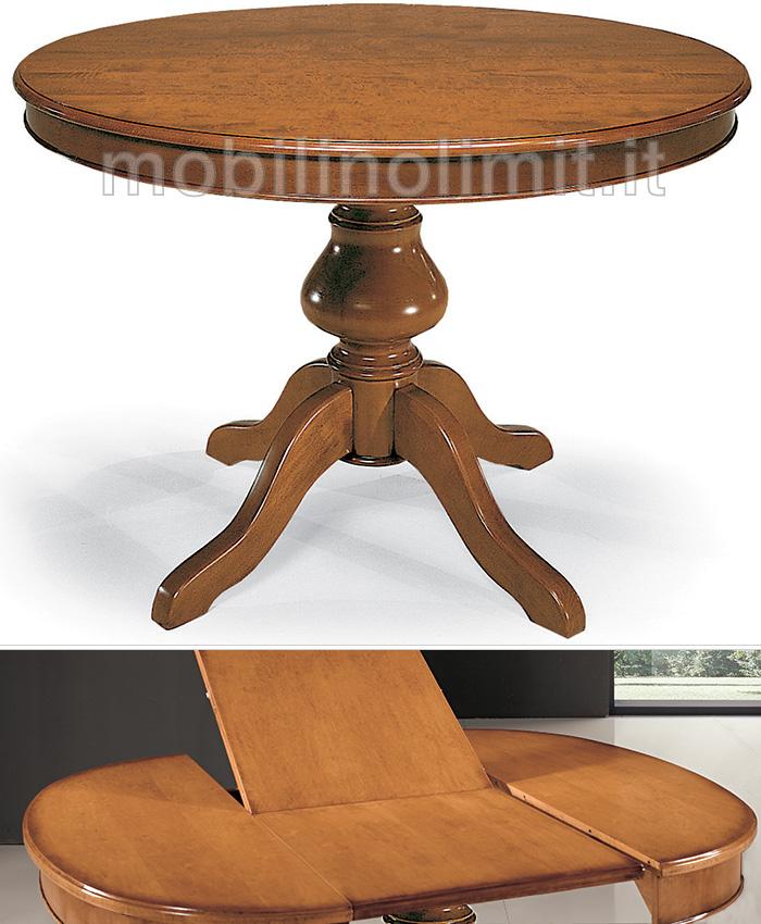 Tavolo rotondo allungabile con gambo liscio 120 - Tavolo ovale allungabile arte povera ...
