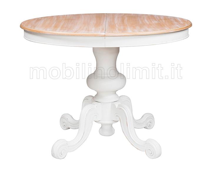 Tavolo allungabile rotondo bianco shabby 120 - Piccoli specchi rotondi ...